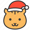 animal, avatar, christmas, hat, squirrel, xmas