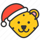 animal, avatar, christmas, hat, leopard, merry, xmas