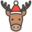 animal, avatar, christmas, moose, xmas icon