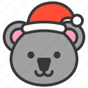 animal, avatar, christmas, koala, merry, xmas icon