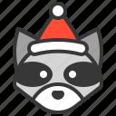 animal, avatar, christmas, raccoon, xmas