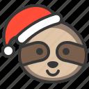 animal, avatar, christmas, sloth, xmas icon