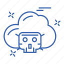 cloud, crime, cyber, security icon