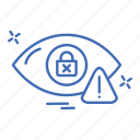 crime, cyber, eye, ratina, security icon