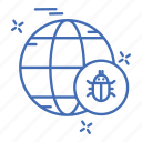 crime, cyber, globe, security icon