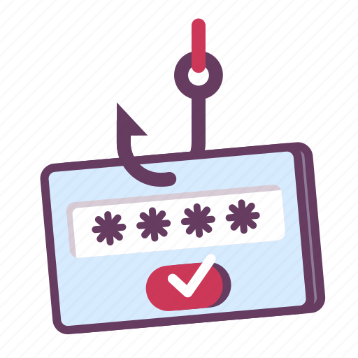 password, phishing, scam icon