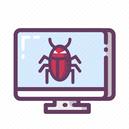 bugs, computer, infection, virus icon