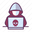 crime, cyber, hacker icon