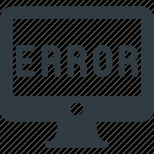 computer, crime, cyber, error, hacked, hacker, warming icon