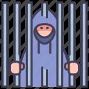 crime, criminal, hacker, jail, prison, prisoner, thief icon