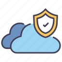 cloud, data, internet, network, protection, security, server icon