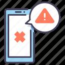 alert, error, mobile, notification, phone, smartphone, warning