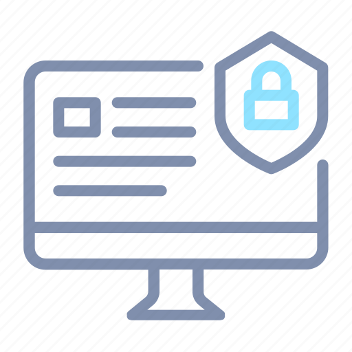Computer, cyber, desktop, lock, protection, secure, security icon - Download on Iconfinder