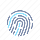 cyber, finger, password, print, protection, secure, security icon