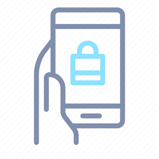 cyber, lock, mobile, padlock, phone, secure, security icon
