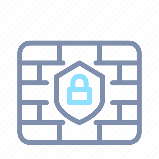 cyber, padlock, protection, secure, security, shield, wall icon