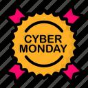 cyber, label, monday, sticker icon