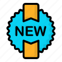 item, label, new, sticker icon