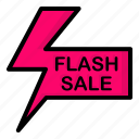 discount, flash, label, sale icon