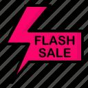 discount, flash, label, sale