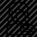 avatar, cashier, female, store icon