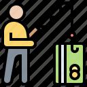 bait, danger, illegal, phishing, thief icon