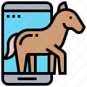 cyber, hacking, horse, spyware, trojan icon