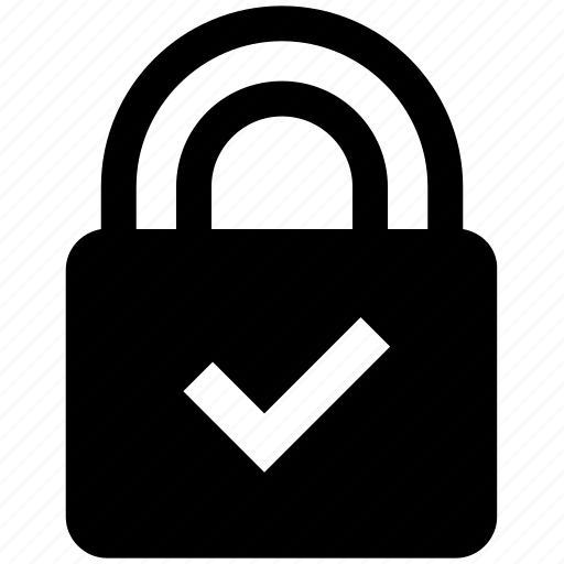 accept, lock, padlock, password, protected, safe, security icon