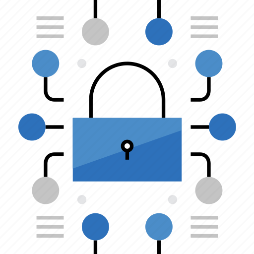 connection, cyber, lock, protection, secure, security, web icon