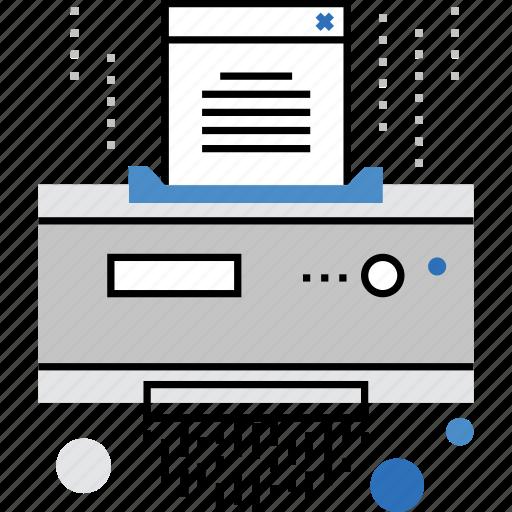 confidential, data, delete, file, information, secret, shredder, top icon