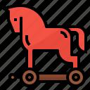 virus, trojans, malware, horse icon