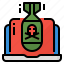 cyber, protection, security, warfare icon