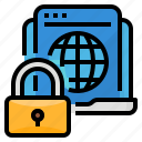 cybersecurity, data, protection, security icon