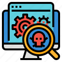 hidden, rootkits, software, virus icon