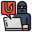 crime, harmful, sabotage, tampering icon