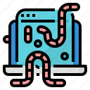 protect, definition, worms, virus icon
