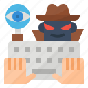 keyloggers, monitoring, software, spyware icon
