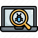 antivirus, mulware, search, virus, scan, web, loupe