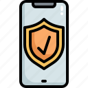 mobile, secure, security, phone, shield, protection, protected