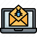 spam, virus, mail, email, malware, message, laptop