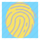 cyber, digital, fingerprint, password, scan, security icon