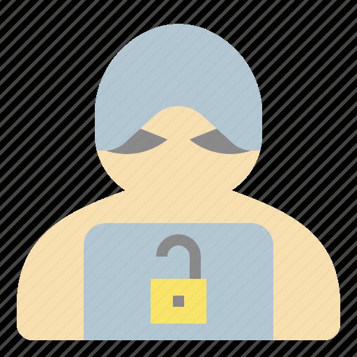 crime, cyber, hack, hacker, harm, online icon