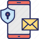 encrypted email, message encryption, secure email, secure mail icon
