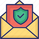 encrypted email, private email, safe email, secure email, secure mail icon