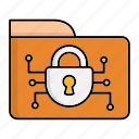 cyber security, encryption, folder, network protection, security, smart, technology icon