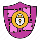 crypto, cyber security, encryption, network protection, security, smart, technology icon