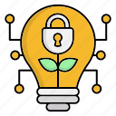 cyber security, encryption, idea, lamp, network protection, security icon