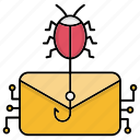 attack, cyber security, email, encryption, smart, technology icon