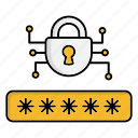 cyber security, encryption, network protection, password, smart, technology icon