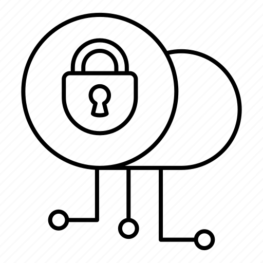cloud, encryption, lock, password, private, security, weather icon